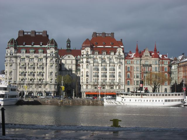 The waterfront in Stockholm in May 2012