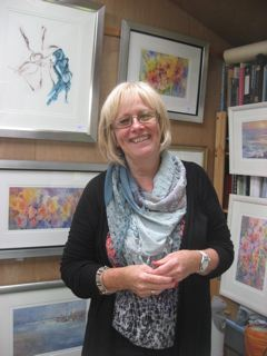 Rosemary Miller photographed in her studio (2012)