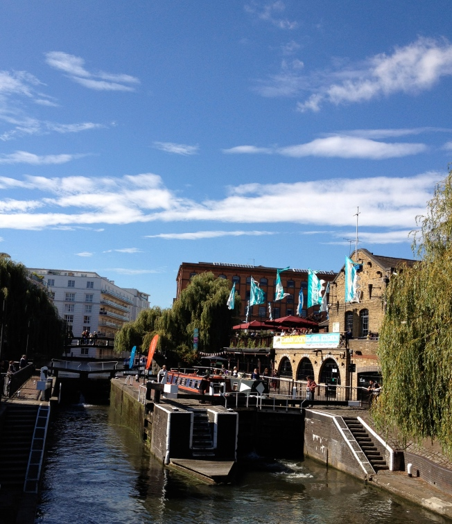 Camden Lock Market on Regent's Canal, London