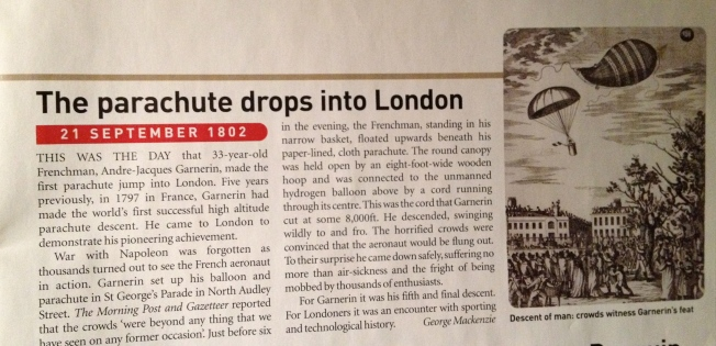 Garnerin parachutes into London - 1802
