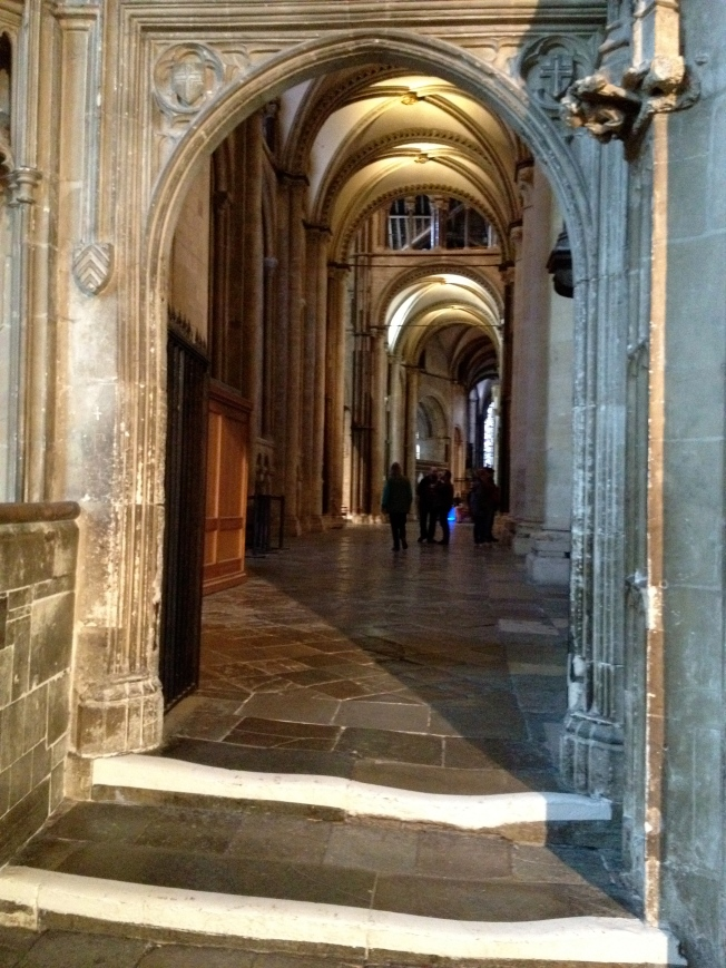 The quiet of Canterbury Cathedral