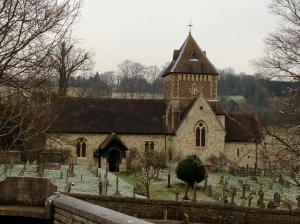 St Laurence's Church, Seale on a winter's day