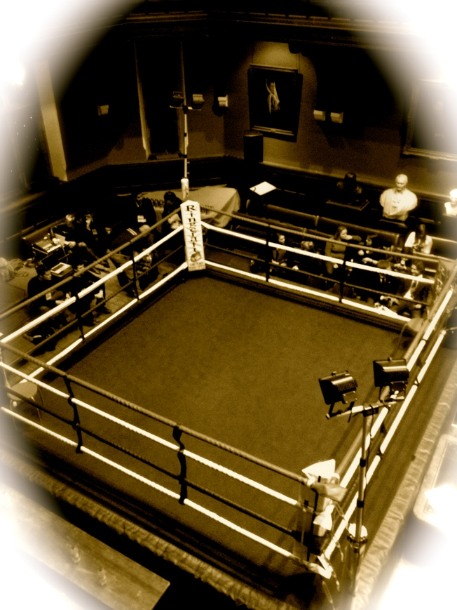 Boxing ring in the Oxford Union