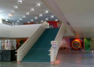 Part of the entrance foyer of Herlev Hospital
