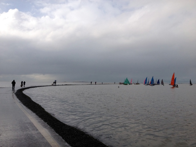 Team racing on the Marine Lake in West Kirby, England