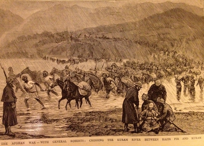 Afghanistan - General Roberts and troops (illustration from The Graphic 1879)