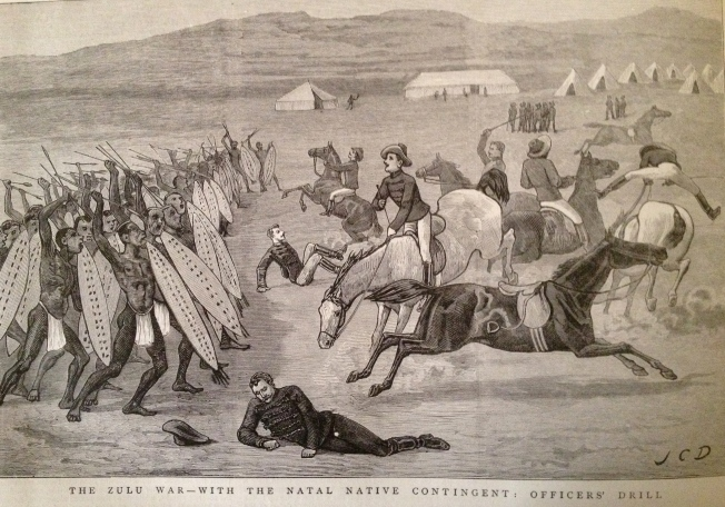 The Zulu War - with the Natal Native Contingent: Officers' Drill