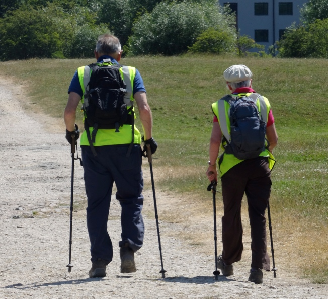 Tom and Jane Benyon (ZANE) on the final stretch of their 2013 walk into Oxford