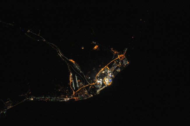 Night view of Sochi during the Olympics NASA Goddard Photo and Video