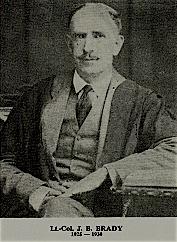 1925 - 1930 Lt Col J B Brady Headmaster of Milton College, Bulawayo
