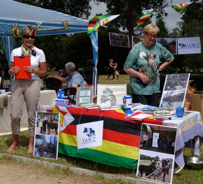 The VAWZ (UK) stall at the Whitely Village Summer Fair 2014