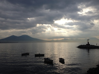 The Bay of Naples after rain ...