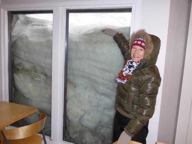 Deep snow in Nordkapp