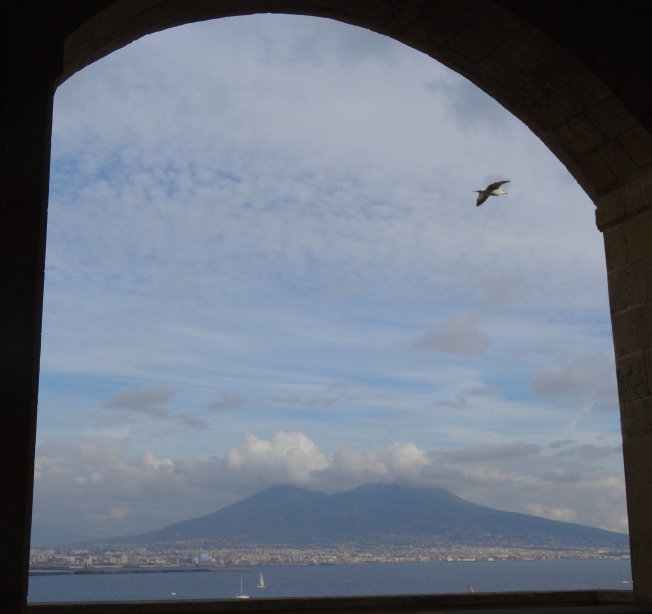 Vesuvius from the Castell dell-Ovo