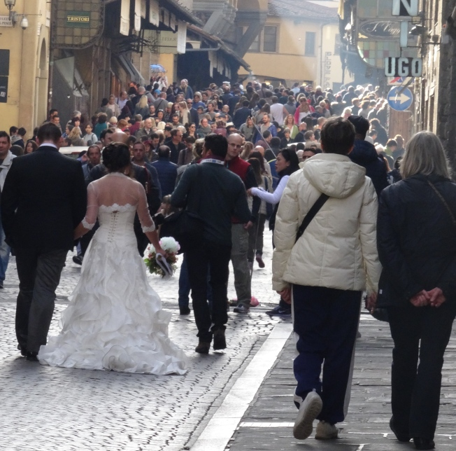A bride on the Ponte Vecchio