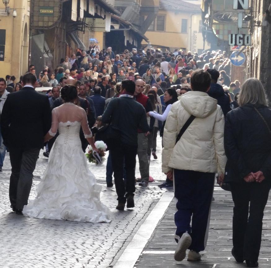 A bride on the Ponte Vecchio