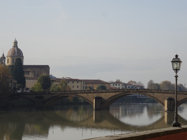 View along the River Arno in Florence