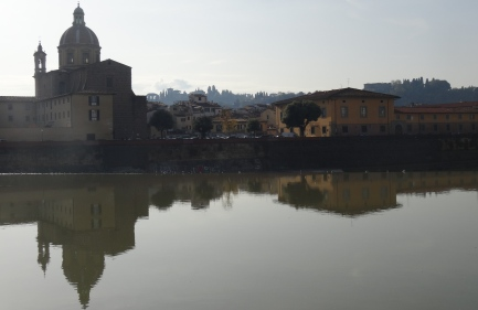 View along the Arno in Florence