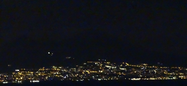 The lone bright light in the left third of the picture is the Mt Vesuvius Observatory. It is minutes before the end of 2014.