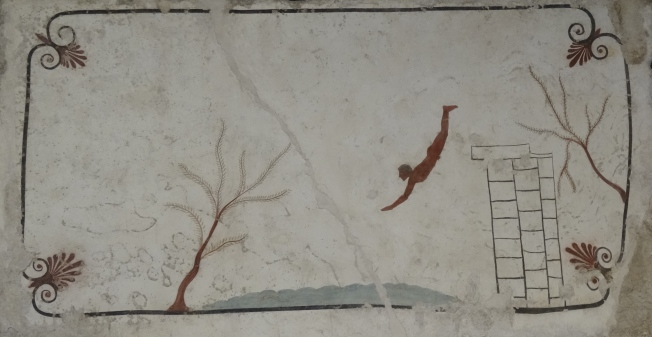 Painting from the tomb of the diver