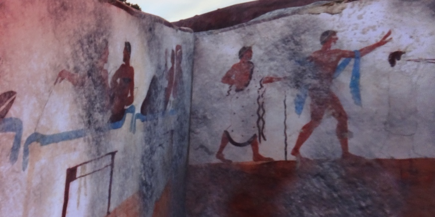 The panels from the Tomb of the Diver in Paestum