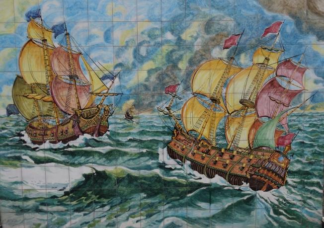 Mural outside Industria Ceramica Avallone in Vietri sul Mare