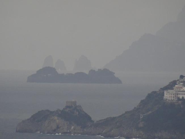 Rain along the Amalfi Coast