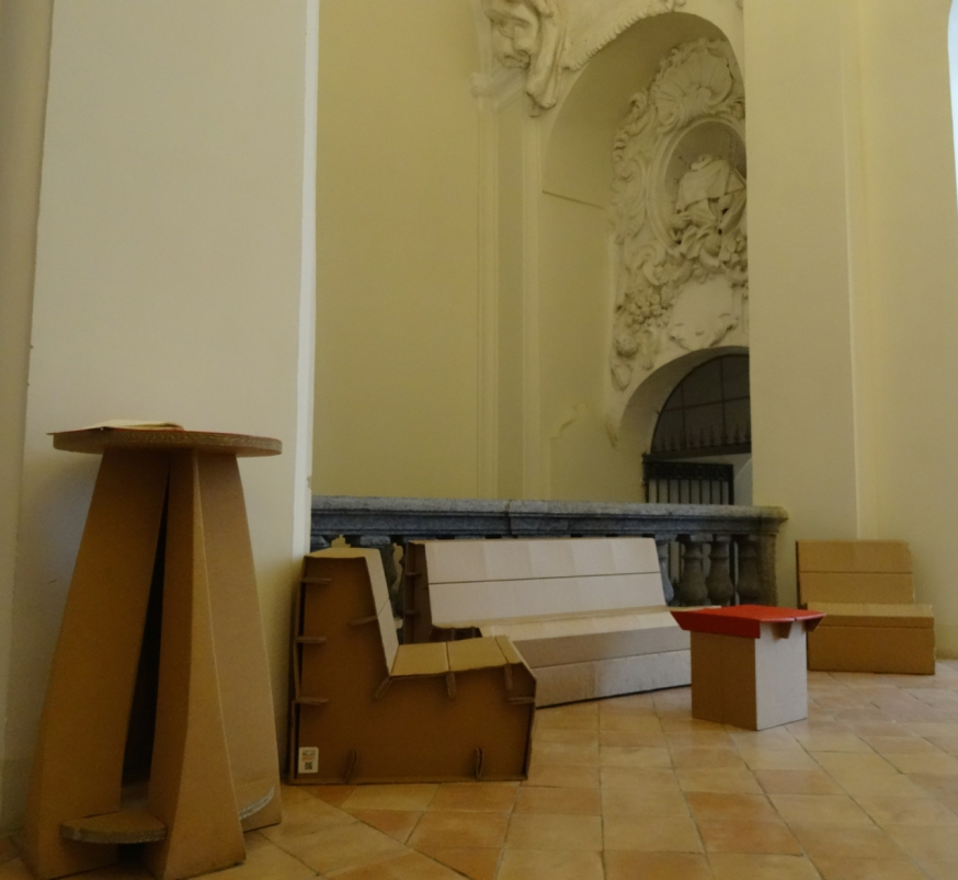 The cardboard furniture
