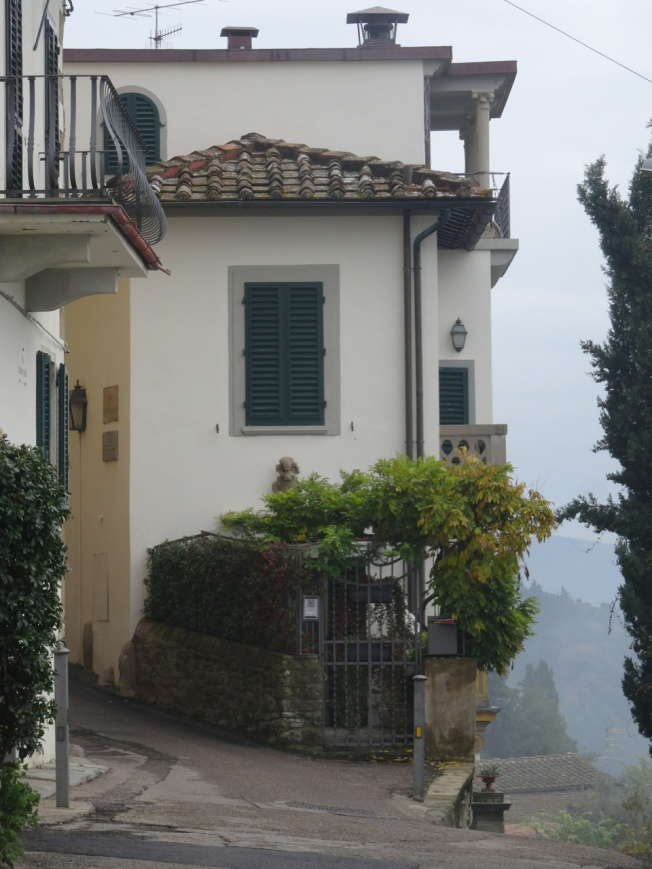 House that the American architect Frank Lloyd Wright stayed at in Fiesole in 1910