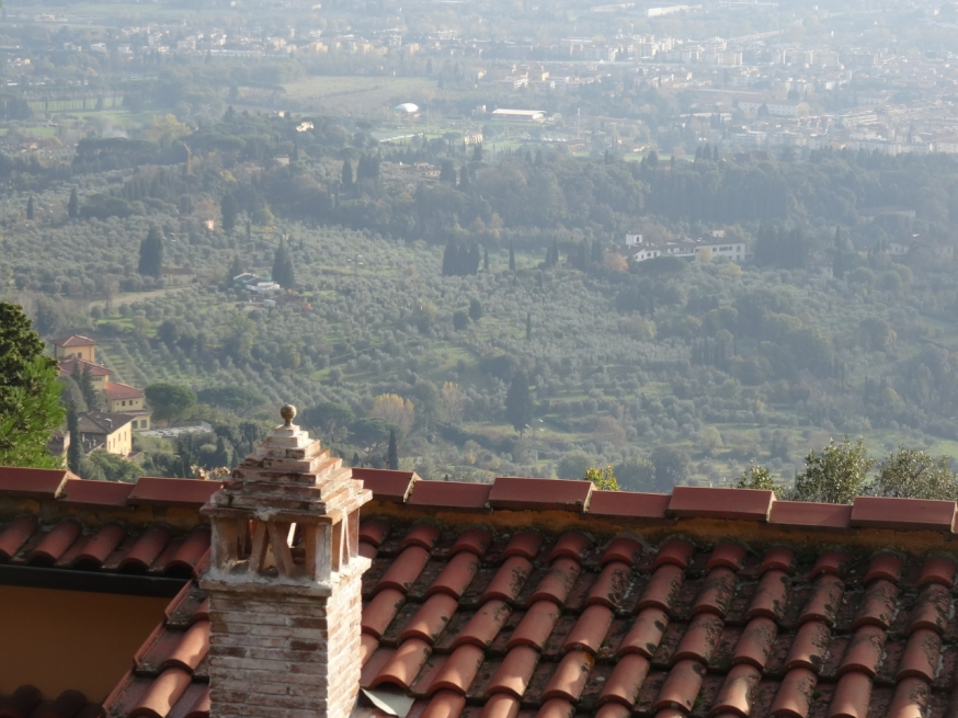 View over a rooftop in Fiesole