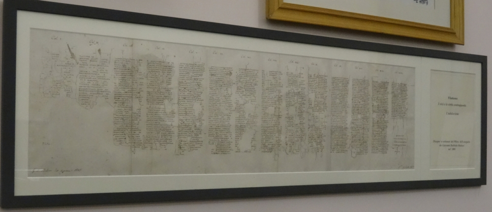 Herculaneum Papyri in the National Library in Naples (5/6)