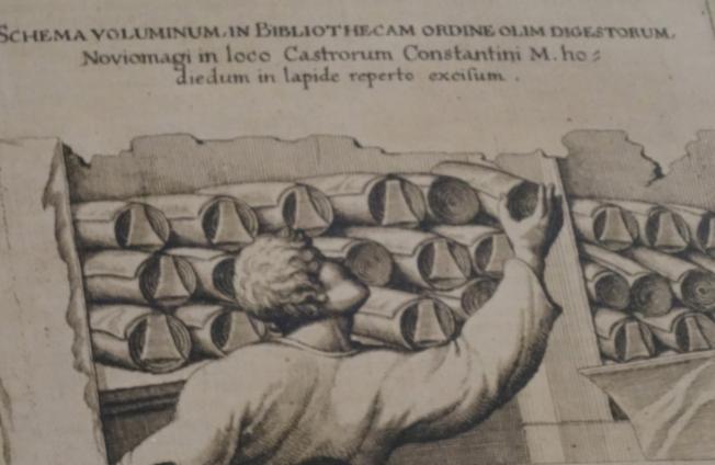 Storing of papyri scrolls