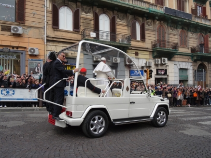 The Pope at our corner in Naples