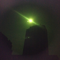The solar eclipse through dark glass in Naples