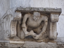 Restored detail on Benevento Cathedral