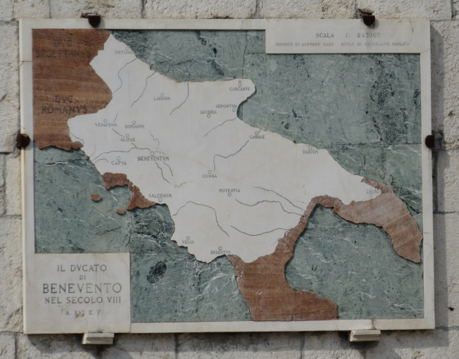 Map of the Duchy of Benevento in the 8th century