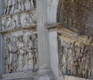 Detail from Trajan's Arch in Benevento