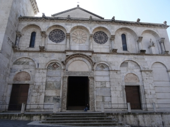 Benevento Cathedral, rebuilt and modern, but first consecrated in 780