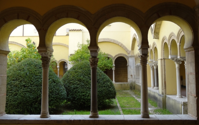 The petite cloister of Santa Sofia in Benevento