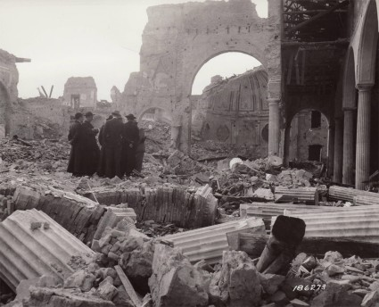 Benevento Cathedral destroyed by Allied bombs in World War II