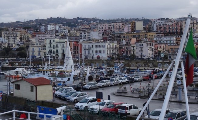Busy ferry port of Pozzuoli