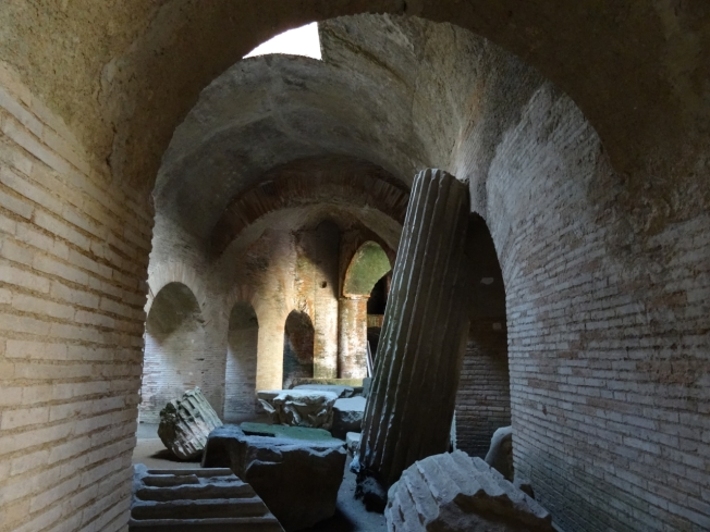 """In amongst the """"dust and shadows"""" in the Anfiteatro Flavio in Pozzuoli"""
