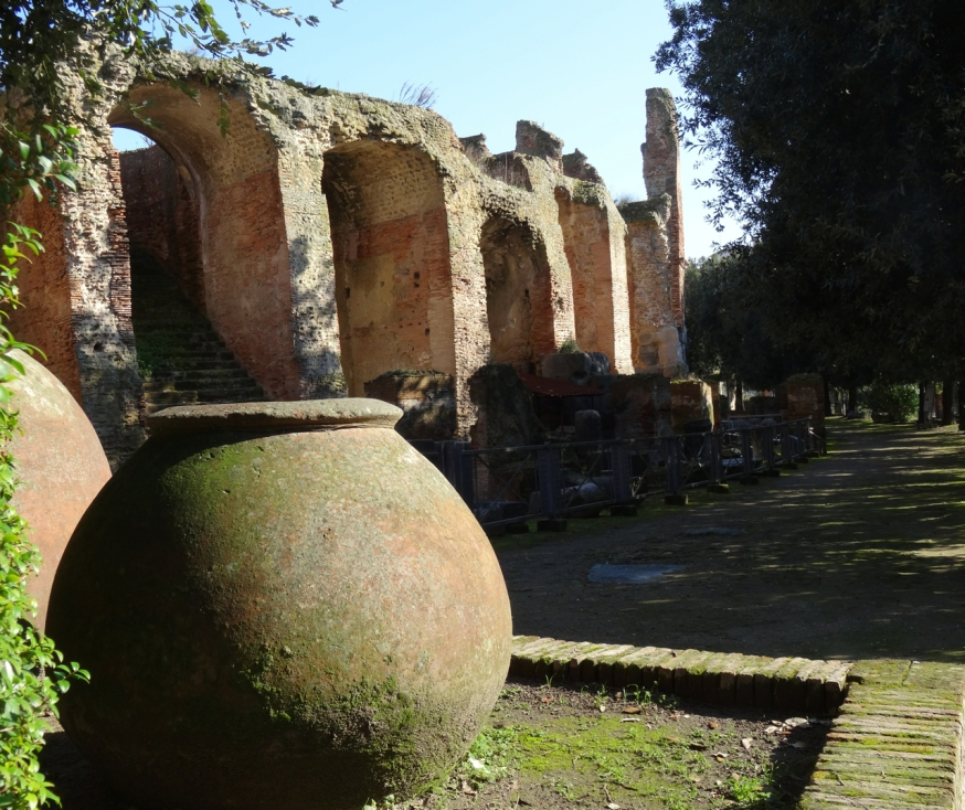 An outer edge of the Anfiteatro Flavio in Pozzuol