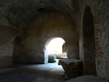 Space for gladiators and wild beasts in the Anfiteatro Flavio in Pozzuoli