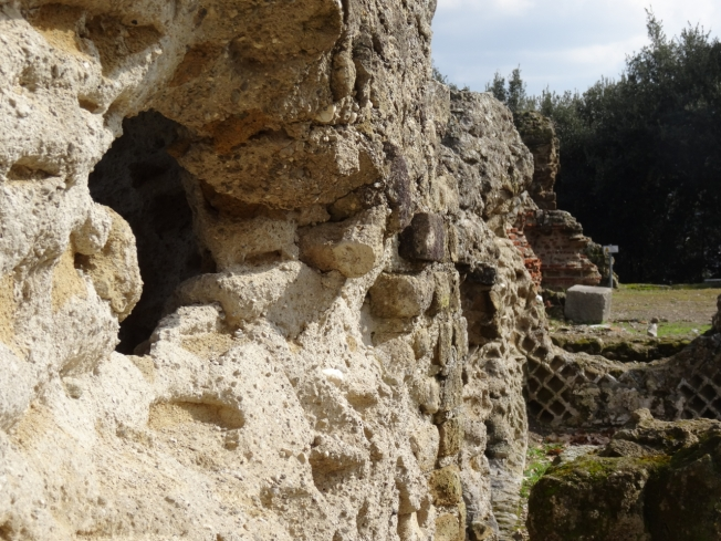 The ruins of the Temple of Jupiter at Cuma