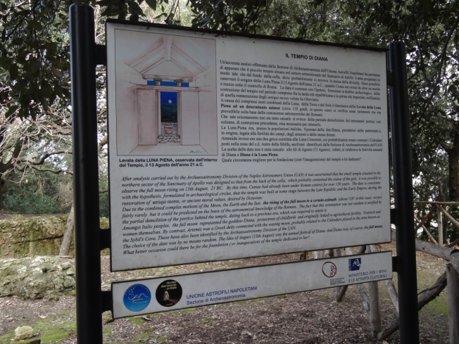 Information on the Temple of Diana, Cuma