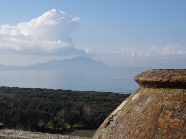 View from the terrace in Cuma