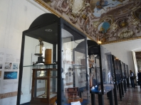 Agricultural display cases in the Palazzo Reale di Portici