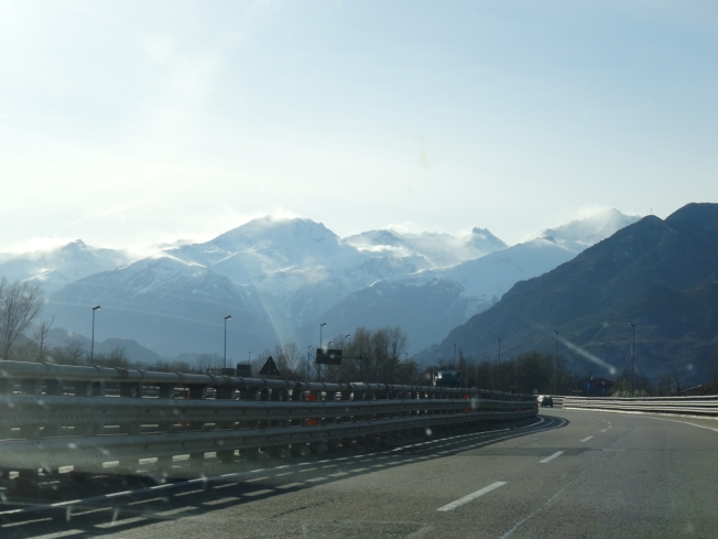 The foot of the Alps