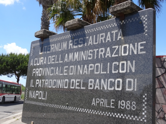 Sign by Lago di Patria